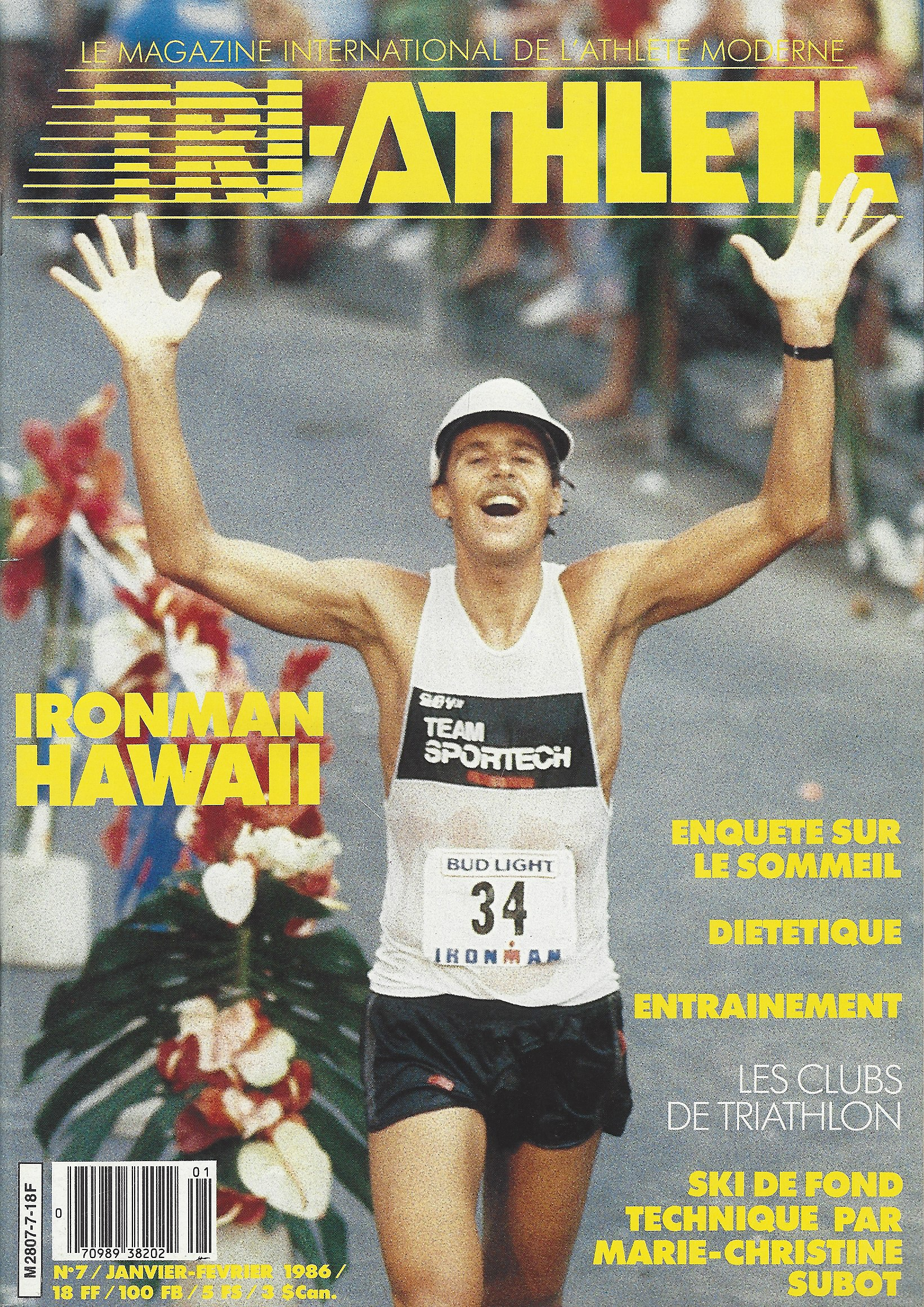 Couverture Triathlete Magazine Janvier 1986